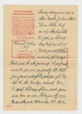 WWII KZ camps:  inmate's letter from Hamburg - Neuengamme, 1942