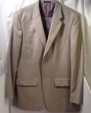 Alfani Light Green Two Button Sports Coat Blazer 100% Wool 44 Long
