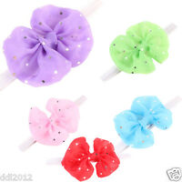 Cute Girl Newborn Baby Toddler Infant Hairband Elastic Flower BowKnot Headwears