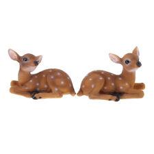 Realistic Animals Garden Ornament Decor Lifelike Sika Deer Resin Crafts
