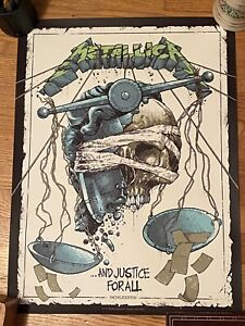 Metallica And Justice For All Luke Preece Poster Rare