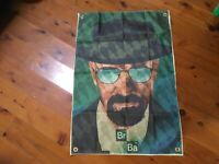 Walter white breaking bad  Man cave flag banner printed poster mancave idea gift