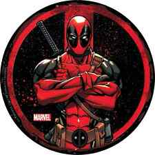 """DEADPOOL circle arms crossed STICKER Licensed Decal 3.5"""" New Marvel S-MVL-61"""