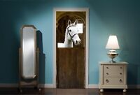 Door Mural Horse Horses Stable View Wall Stickers Decal Wallpaper 44B