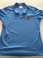 Nike Golf Ladies Size Large Dry Fit Dekalb Blue Shirt