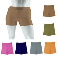 Solid Extra Elastic Shorts Yoga Biker Swim Short Workout Pants Apparel for Women