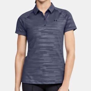 Under Armpit Zinger Golf Polo Shirt (Women Size XL) Athletic Top Blue