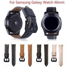 3TX Genuine Leather Band for Samsung Galaxy Watch 46mm Strap Belt w Black Buckle