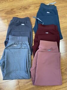 FIGS scrubs women's Small  Pants lot of 5 Technical Collection