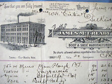 JAMES MCCREADY & SON SELKIRK Canada SHOES 1894 Beautiful Vintage Letter Head