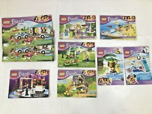 8 LEGO Friends Instruction Manuals ONLY Summer Caravan 41034 41019 3937 LOT#2