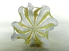 Murano FAZZOLETTO ° Glas Taschentuchvase mit Zanfirico und Aventurin ° (16)