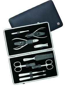 Becker-Manicure Erbe Solingen 9-tlg. Set Manicure Case Series Carbon Men Leather