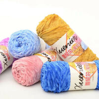 DIY Handicrafts Chenille DK Yarn Velvet Thread for Sweater Scarf  Hat 28 Colors