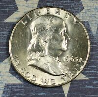 1963-D Franklin Silver Half Dollar Uncirculated Collector Coin For Your Set.