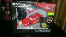 NEW Toothbrush Great Smile Set Disney CARS 3 McQueen Holder Rinse Cup Fun Pack