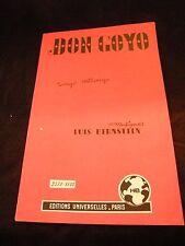 Partition Don Goyo Bernstein Confidences Desbois Music Sheet