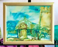 acrylic on canvas art painting impressionism style canvas on board framed