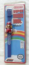 RARE NINTENDO 1989 SUPER  MARIO BROS. WATCH BLUE BAND VINTAGE NELSONIC