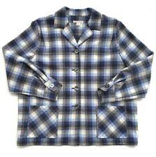Women's Pendelton Plaid Jacket Size XL 100% Virgin Wool
