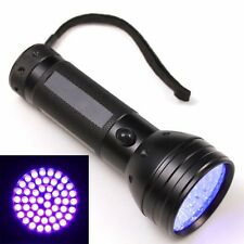 51 UV LED Scorpion Detector Hunter Finder Ultra Violet Black light Flashlight AA