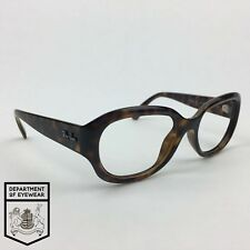 RAY-BAN eyeglass TORTOISE / CLEAR frame OVAL Authentic. MOD: RB 4198