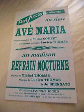 Partitura Ave Maria Comtet Thomas Coro Nocturna Spennato