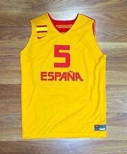 NIKE RUDY FERNANDEZ SPAIN BASKETBALL GAME JERSEY EUROBASKET FIBA NBA MADRID L