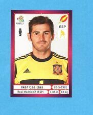 PANINI-EURO 2012-Figurina n.287- CASILLAS - SPAGNA -NEW-DARK BOARD