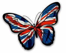LARGE Beautiful Butterfly Design With British Union Jack Flag vinyl car sticker