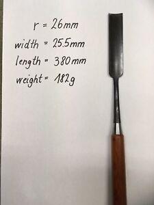Japanese inside bevel gouge out for violin making - r = 26 mm length 380mm