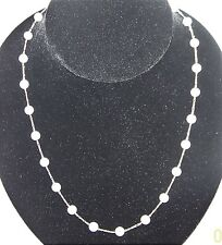 "Hand made Japanese  Cultured Pearl (29 pieces) Necklace, 14k gold chain 24""  ."
