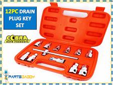 12 pieza clave Tapón De Drenaje Cárter De Aceite Eje zócalos Socket Set Herramienta Coche Garaje 15-8