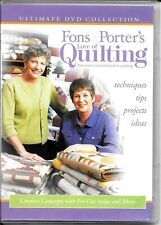 """Fons & Porter'S Love Of Quilting Dvd """"Creative Concepts w/Pre-Cut Strips & More"""""""
