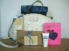 Patricia Nash Fiora White Dome Leather Satchel, Scarf, Bling Ahh Larm $319+