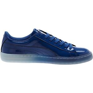 Puma Basket Patent Ice Fade Mens Sneakers Shoes Casual - Blue 363094-02 Size 9.5