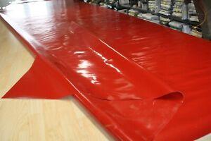 2,65€/m² Plane Abdeckplane PVC Top Holzplane B-Ware 680gr/m² rot 2,50m/7,75m