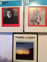 Barry Manilow 8 Track Tape lot of 3 ONE VOICE EVEN NOW BARRY 1978 1979 1980