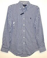 Polo Ralph Lauren Mens Blue Gingham Check Classic Button-Front Shirt NWT Size M