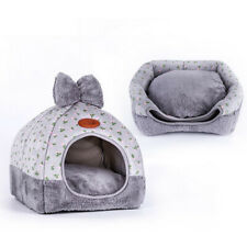 Lovely Dog House Foldable Puppy Cave Pet Sleeping Warm Bed Mat Pad Nest