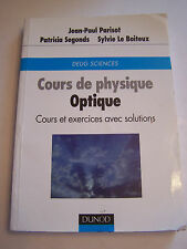MEDECINE , COURS DE PHYSIQUE OPTIQUE , 332 PAGES  . BON ETAT .