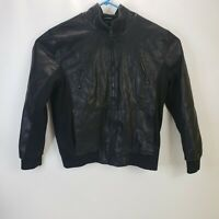 Guess Adult Faux Leather Jacket Motorcycle Moto Extra Large XL Mens Black Zip Up