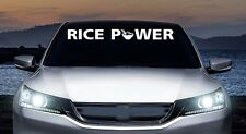 Rice power windshield banner funny humor jdm racing  vinyl decal, car, trucks