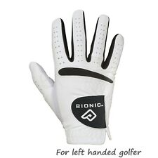 "3 X Bionic Relax Grip Golf Glove - Mens Black Leather Palm ""looks Newer Longer"" XX Large Right Hand (for Left Handed Golfers)"