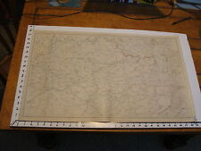 """1891 Civil War Map 18"""" X 29"""": Topographical Plate CL: NASHVILLE, KNOXVILLE"""