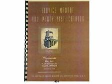 Cincinnati No. 0-8 Milling Machine Model Ea Service Manual & Parts List *400