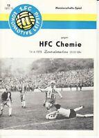 OL 77/78  1. FC Lok Leipzig - HFC Chemie