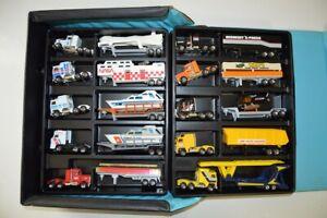 LOT OF 10 + CASE Vintage Matchbox CONVOY DAF tractor trailer semi die-cast