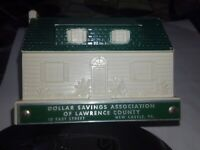 COIN BANK VINTAGE DOLLAR SAVINGS ASSOCIATION OF LAWRENCE COUNTY with KEY
