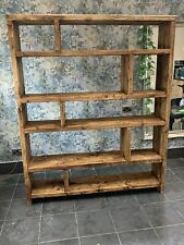 rustic chunky reclaimed board bookcase, shelving unit